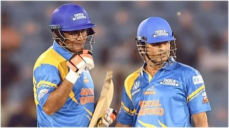 Road Safety World Series Virender Sehwag smashed 80 off 35 balls India Legends third win Road Safety World Series : वीरेंद्र सहवाग ने 35 गेंद पर ठोके 80 रन, इंडिया लेजेंड्स की तीसरी जीत - News Nation