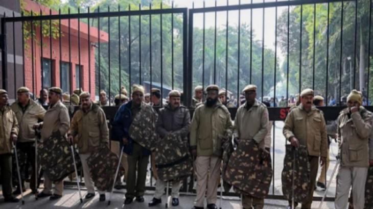 JNU Police Students Violence